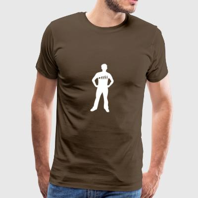 Evolutionen Man - Premium-T-shirt herr