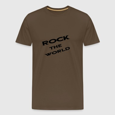 Rock the world, rock the world, black - Men's Premium T-Shirt