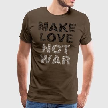 peace - Make Love Not War - aus Herzen - Männer Premium T-Shirt