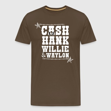 Cash Hank Willie & Waylon Music Country Tennessee - Men's Premium T-Shirt
