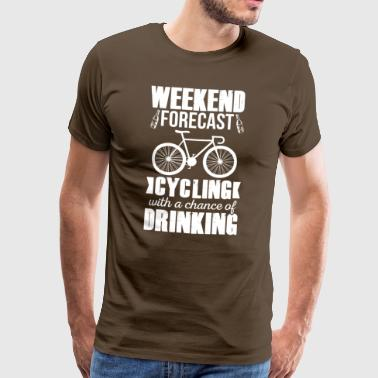 Cycling and Drinking - Men's Premium T-Shirt