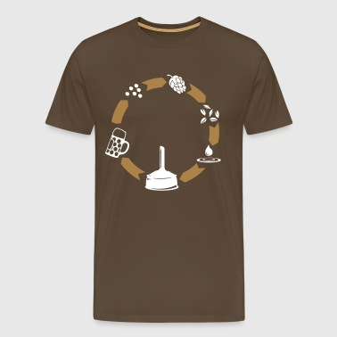 Beer circle  - Men's Premium T-Shirt