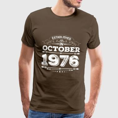Established in October 1976 - Männer Premium T-Shirt