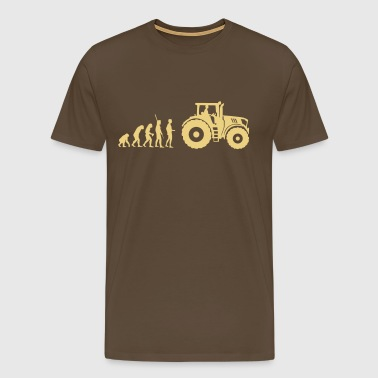 evolution traktor - Premium-T-shirt herr