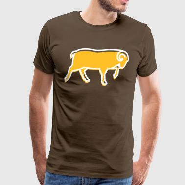 A Running Ram - Men's Premium T-Shirt
