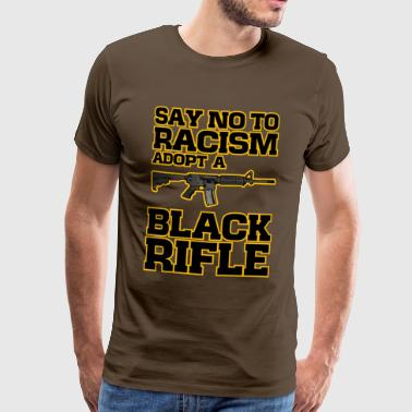 adopt a black rifle funny joke2 - Men's Premium T-Shirt
