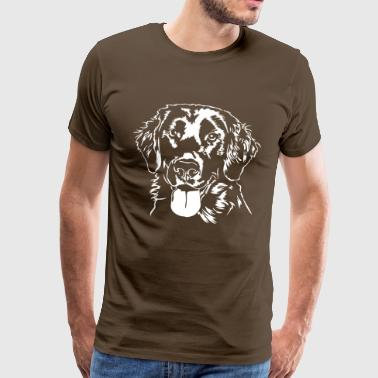 Flat Coated Retriever - Men's Premium T-Shirt