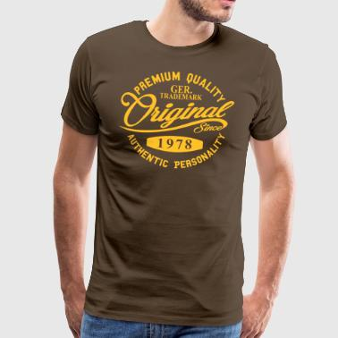 Original Since 1978 Handwriting Premium Quality - Männer Premium T-Shirt