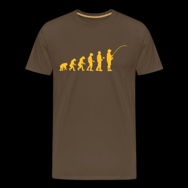 Evolution theory angler - Men's Premium T-Shirt