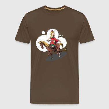 Saint Martin on the horse - Men's Premium T-Shirt