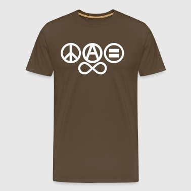 Peace love and anarchy - T-shirt Premium Homme