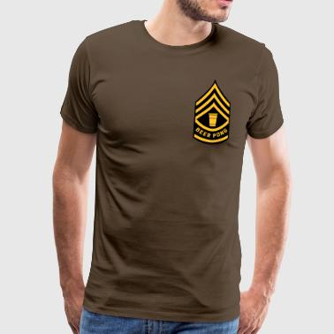 Patch Beer Pong Army - Mannen Premium T-shirt