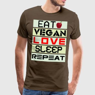 VEGAN REPEAT 02 - Men's Premium T-Shirt