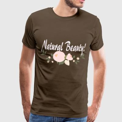 Natural Beauty Flower Peony Beauty Nature - Mannen Premium T-shirt