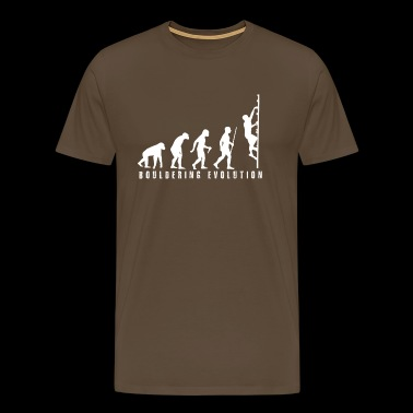 Bouldering Evolution - Men's Premium T-Shirt