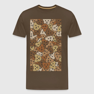 Brown Jumble Teds.jpg - Men's Premium T-Shirt