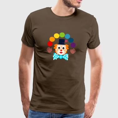 clown jonglera - Premium-T-shirt herr