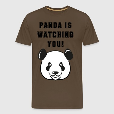 Panda is watching you - Men's Premium T-Shirt