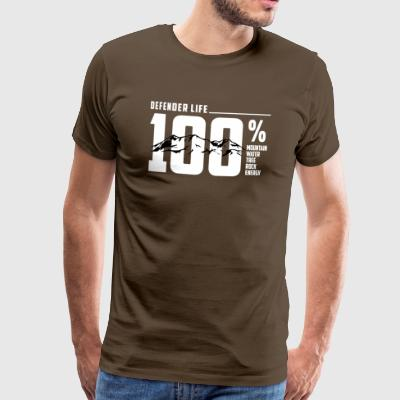 Defender 110 Life! 4x4 offroad fan gift - Men's Premium T-Shirt