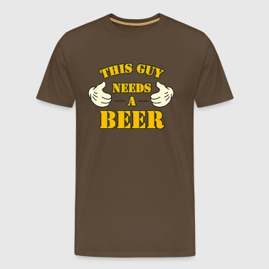 this guy needs a beer i love bier oktoberfest - Männer Premium T-Shirt