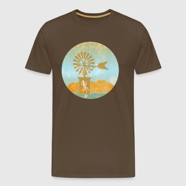 Windmill - Balearic Islands - Men's Premium T-Shirt