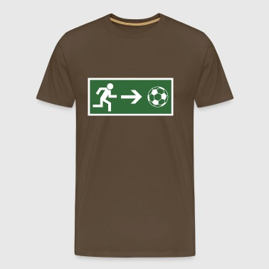 Fire Escape voetbal  - Mannen Premium T-shirt