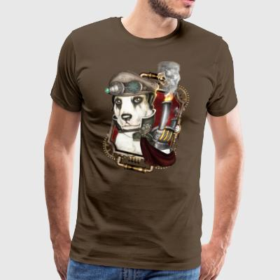 Steampunk Dog # 1 - Premium-T-shirt herr