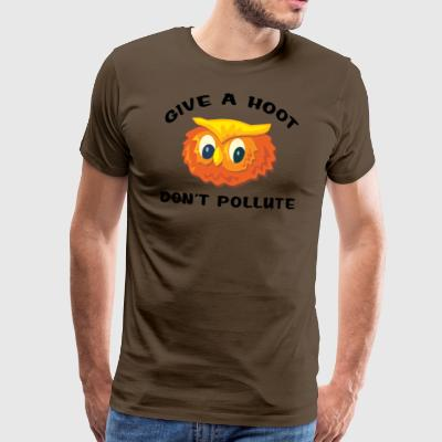 Earth Day Give A Hoot - Men's Premium T-Shirt