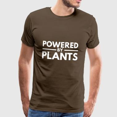 Powered by Plants, white - Männer Premium T-Shirt