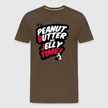 Peanut butter and jelly time, blowjob - Men's Premium T-Shirt