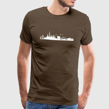 Skyline Hamburg | Hanseatic city - Men's Premium T-Shirt