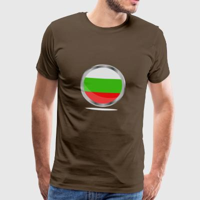 bulgarsk flagg - Premium T-skjorte for menn