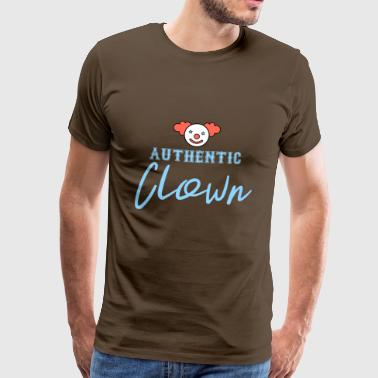 Clown: Authentieke Clown - Gift - Mannen Premium T-shirt