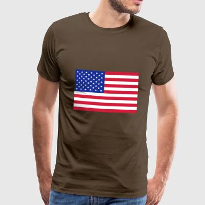 American flag (colors customizable!) - Men's Premium T-Shirt