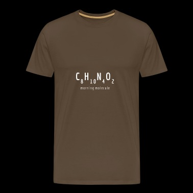 Cafeïne: The Morning Molecule - Mannen Premium T-shirt