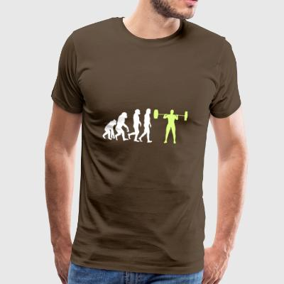 Evolution - Bodybuilder T-shirt van de gift - Mannen Premium T-shirt