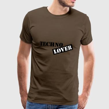 techno lover - Premium T-skjorte for menn