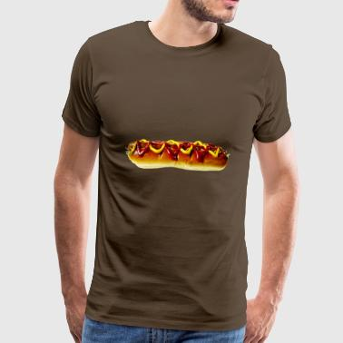 saucisses hot dog hot dog fastfood13 fast-food - T-shirt Premium Homme