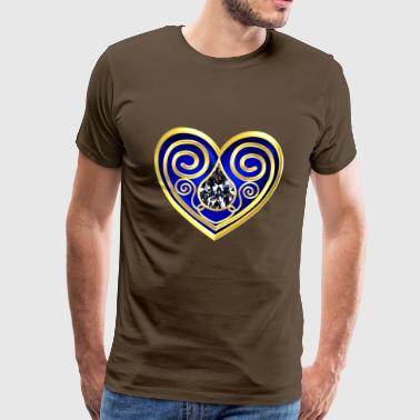 Diamond Heart - Herre premium T-shirt