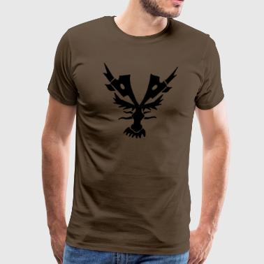 dragon head black - Männer Premium T-Shirt