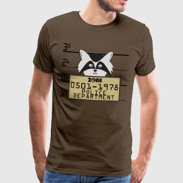 In der Zone Raccoon - Männer Premium T-Shirt