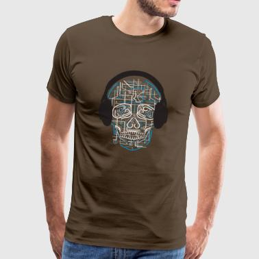 Electric Skull - Premium-T-shirt herr