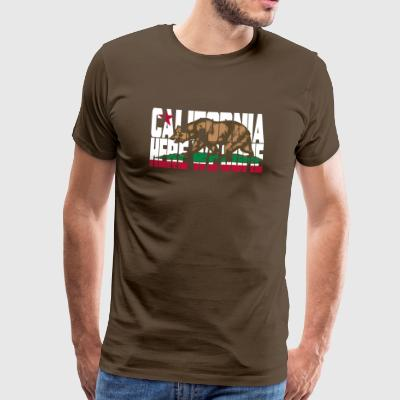 CALIFORNIA - Here We Come Basic T - Men's Premium T-Shirt