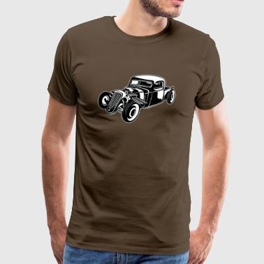 Hot Rod / Rat Rod 08_black white - Men's Premium T-Shirt