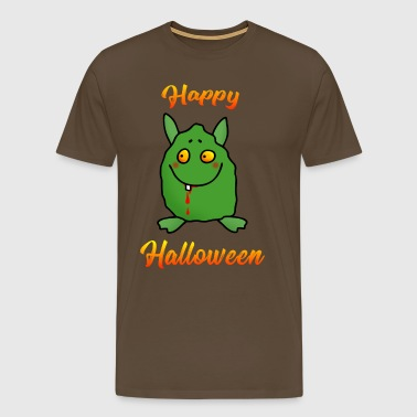 Happy Halloween - Dikke Monster - Mannen Premium T-shirt