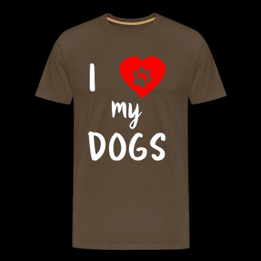 I love my Dogs - Männer Premium T-Shirt
