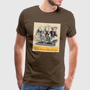 Popart The three Monkeys - Männer Premium T-Shirt