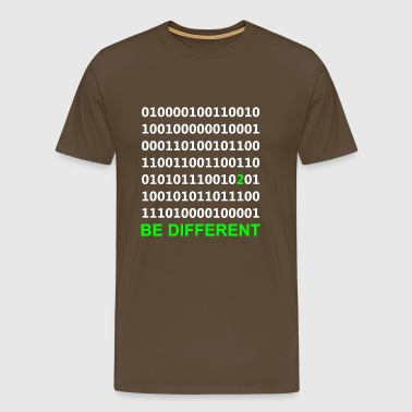 Be Different - Binary - Digitaal - Mannen Premium T-shirt