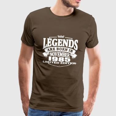 Legends are born in november 1985 - Men's Premium T-Shirt
