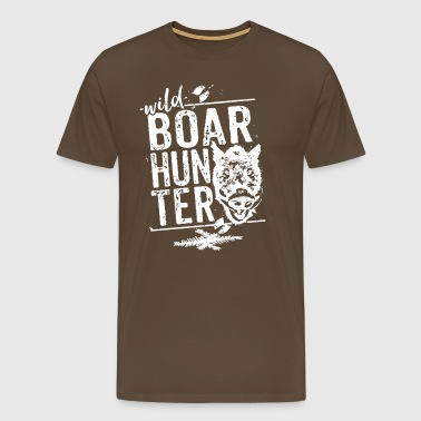 Wild Boar Hunter - Mannen Premium T-shirt